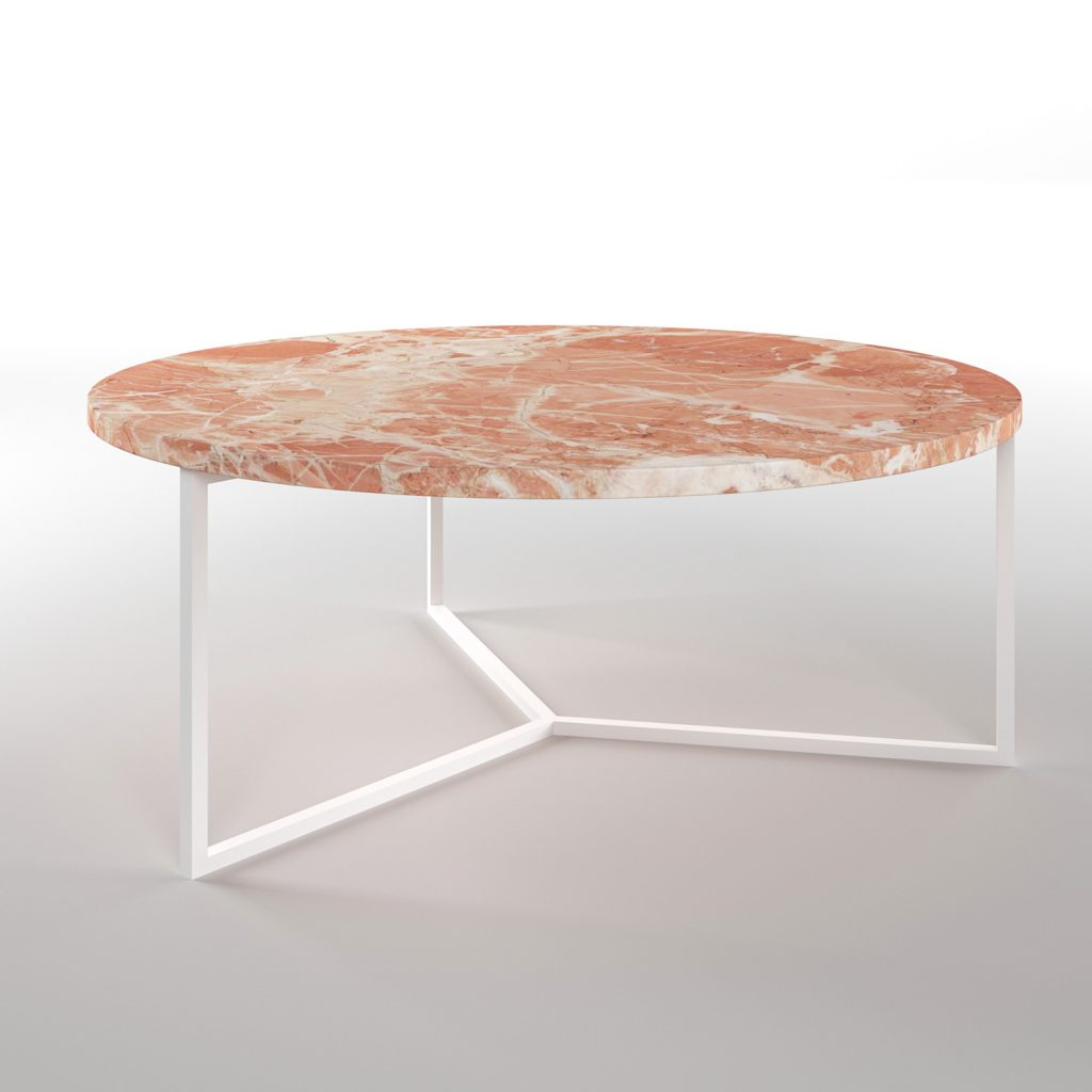 Simple3 Pink Marble Coffee Table
