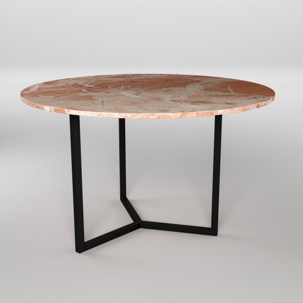 Simple3 Pink Marble Dining Table