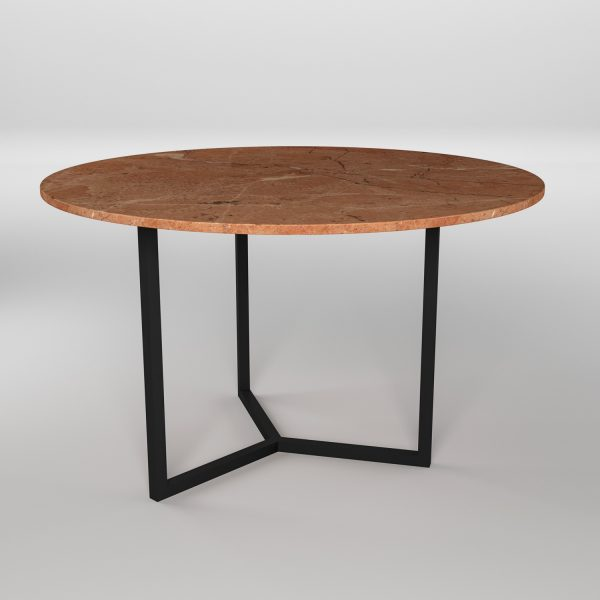 Simple3 Red Marble Dining Table