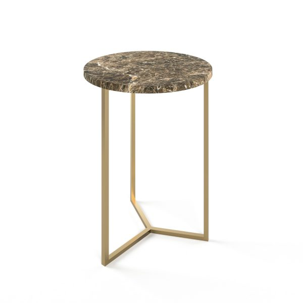 Simple3 Brown Marble Side Table