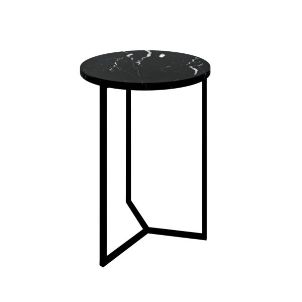 Simple3 Black Marble Side Table