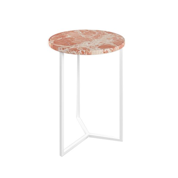 Simple3 Pink Marble Side Table