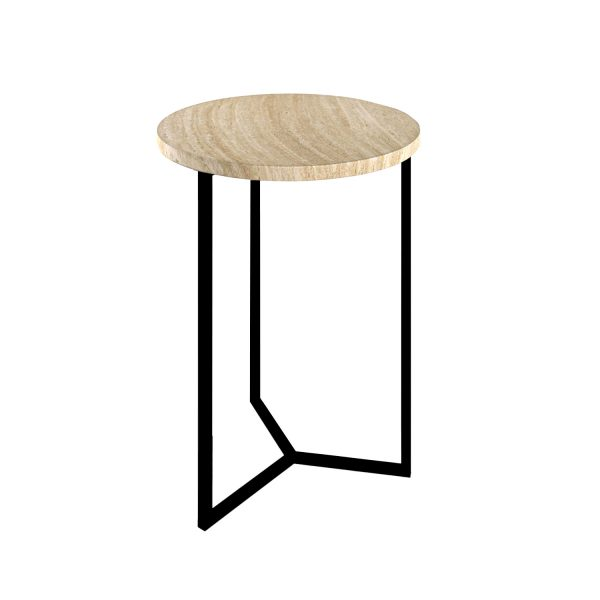 Simple3 Travertine Side Table