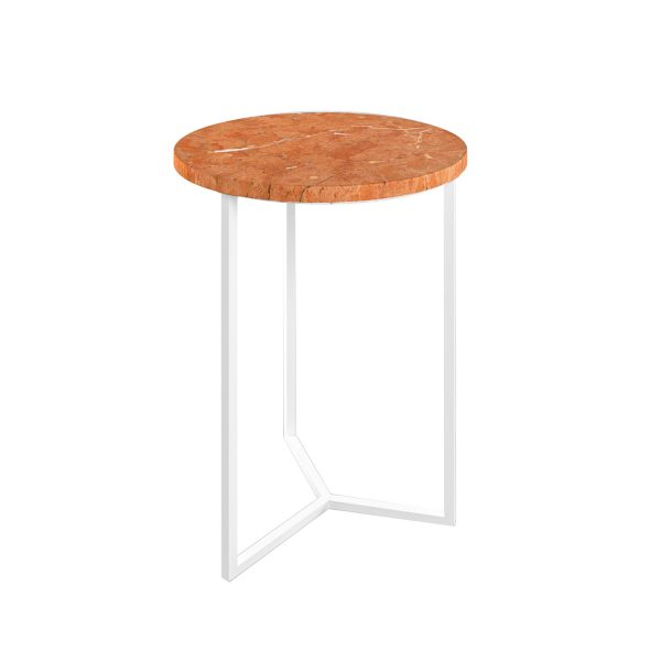 Simple3 Red Marble Side Table