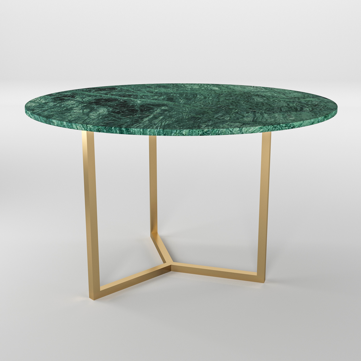 Simple3 Green Marble Dining Table Mawrble