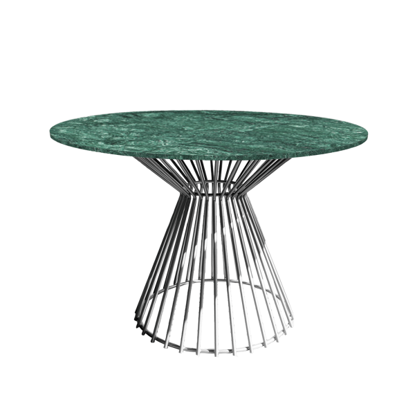 Bend Dining Table Verde Chrome Table leg