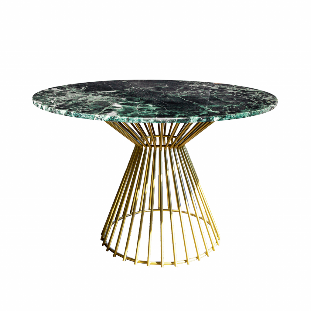 Bend Dining Table Gold table leg