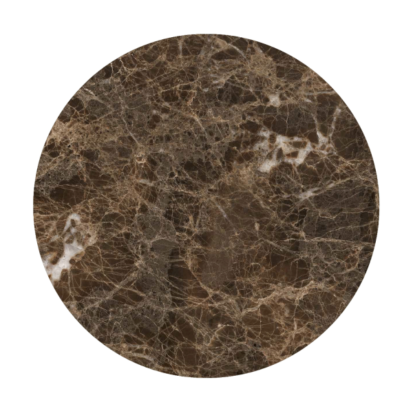 Emperador brown marble top