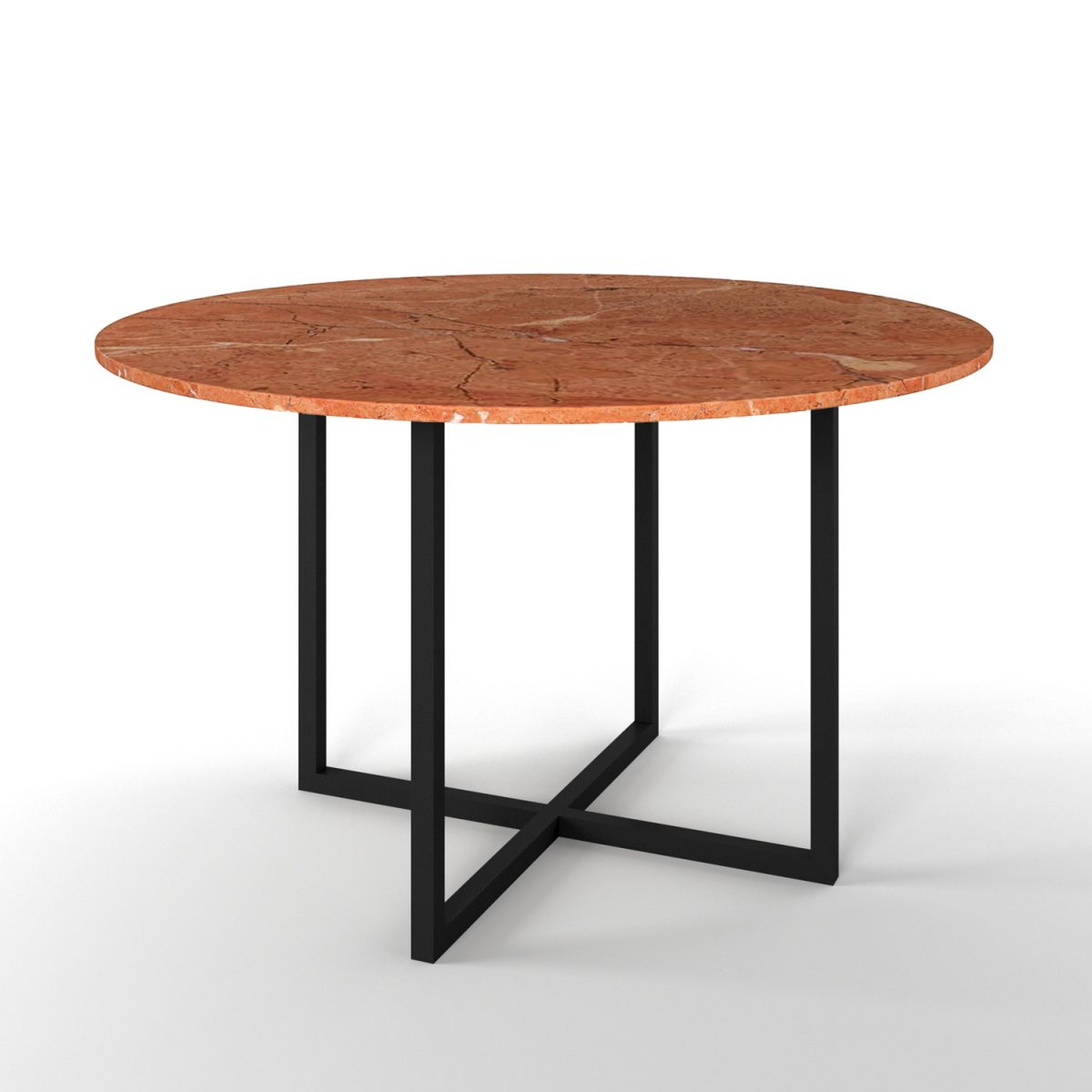Simple4 Red Marble Dining Table